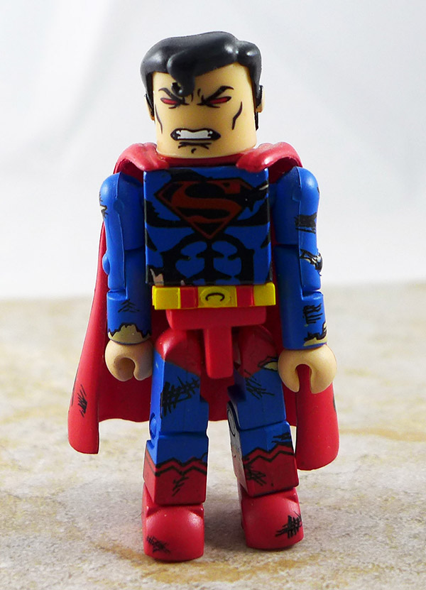Superman Battle-Damaged Partial Loose Minimate (DC Series 2)