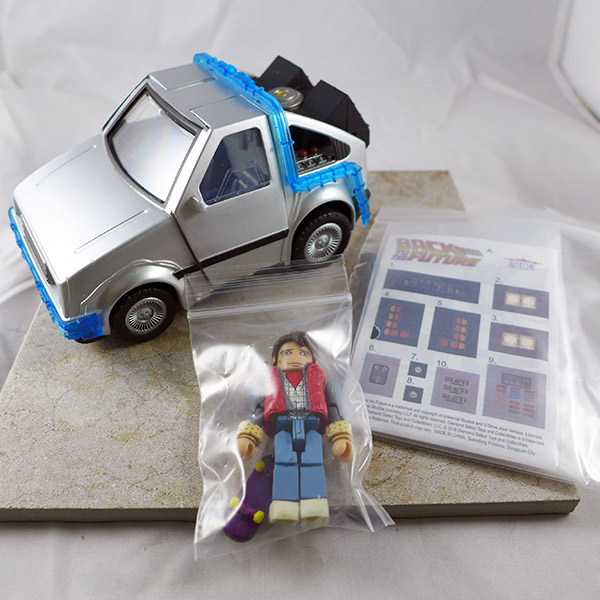 Time Machine Mini Vehicle with Marty McFly Loose Minimate (Back to the Future Vehicles)