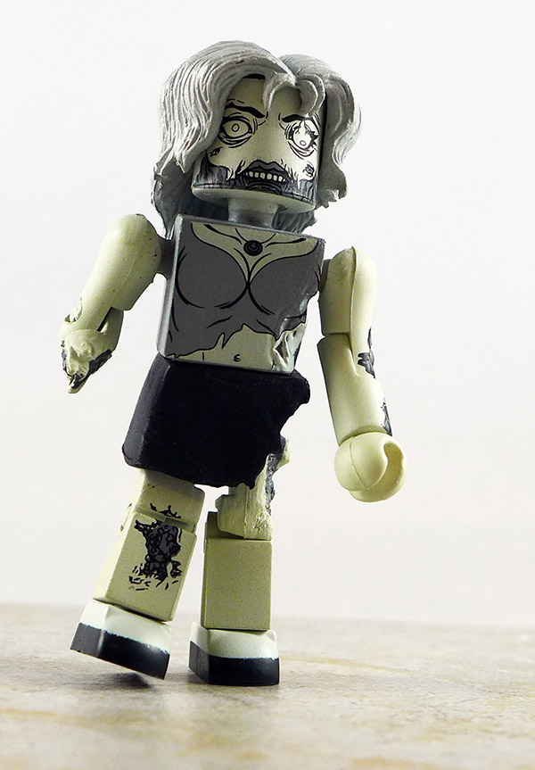 Female Zombie (B&W) Partial Loose Minimate (Walking Dead Halloween ComicFest Two Pack Exclusive)