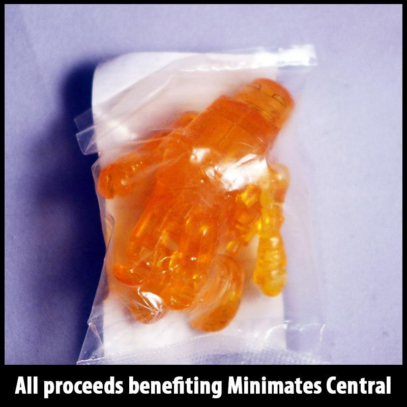 SDCC 2014 Translucent Orange Michelangelo Minimate (New in bag)