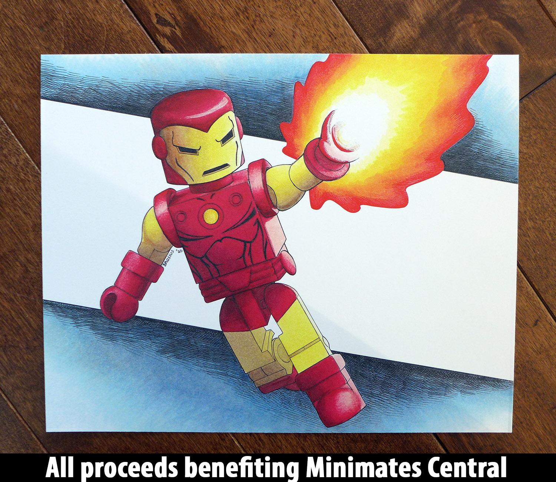 Iron Man Minimate 8x10 Art Print by Don Brosius