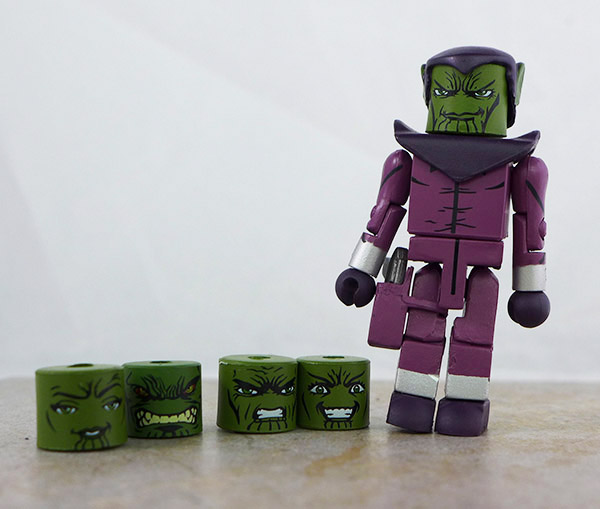Skrull Loose Minimate with extra heads (Marvel Wave 28)