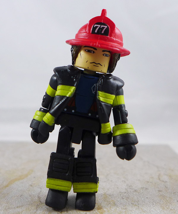 Fire Fighter Chief 3 Partial Loose Minimate (Elite Heroes 4 Pack Box Set)