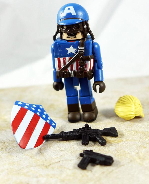WW2 Captain America Partial Custom Loose Minimate (Marvel Wave 27)