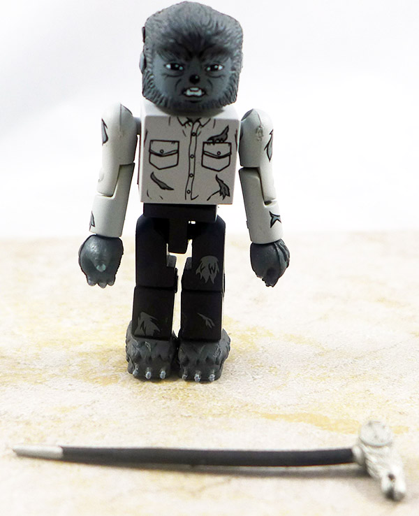 Wolfman (Black and White) Loose Minimate (Universal Monsters TRU Wave 1)