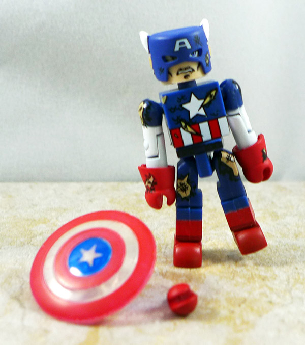 Battle Damaged Captain America Loose Minimate (SDCC 2004 Exclusive)