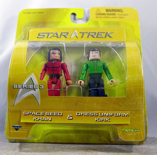 Space Seed Khan and Dress Uniform Kirk (Star Trek Series 3)