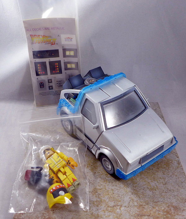 Mini-Time Machine (Frosted) (With Radiation Suit Marty McFly) (Back to the Future Vehicle Set)