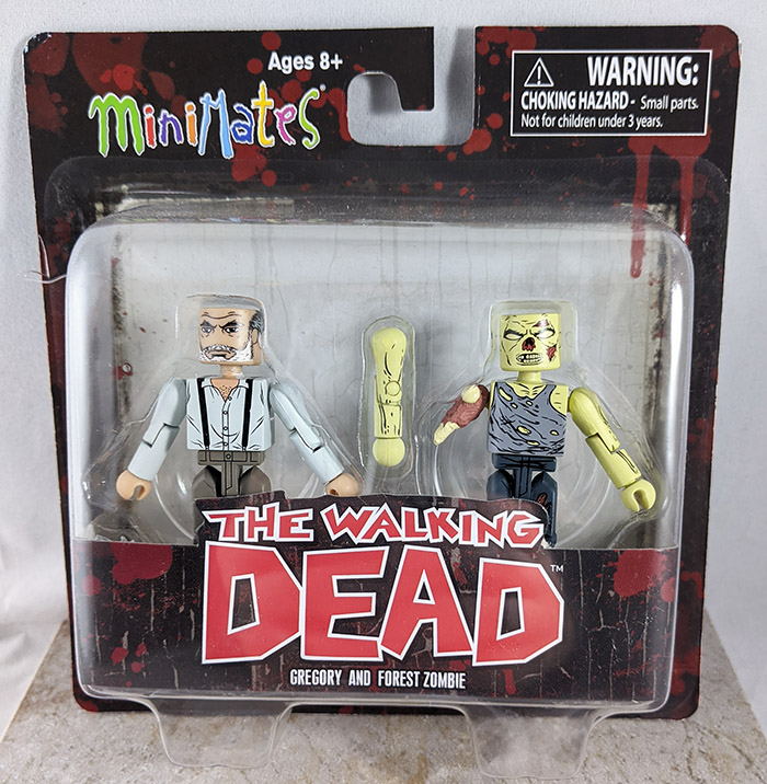 Gregory and Forest Zombie Minimates (Walking Dead Wave 8)
