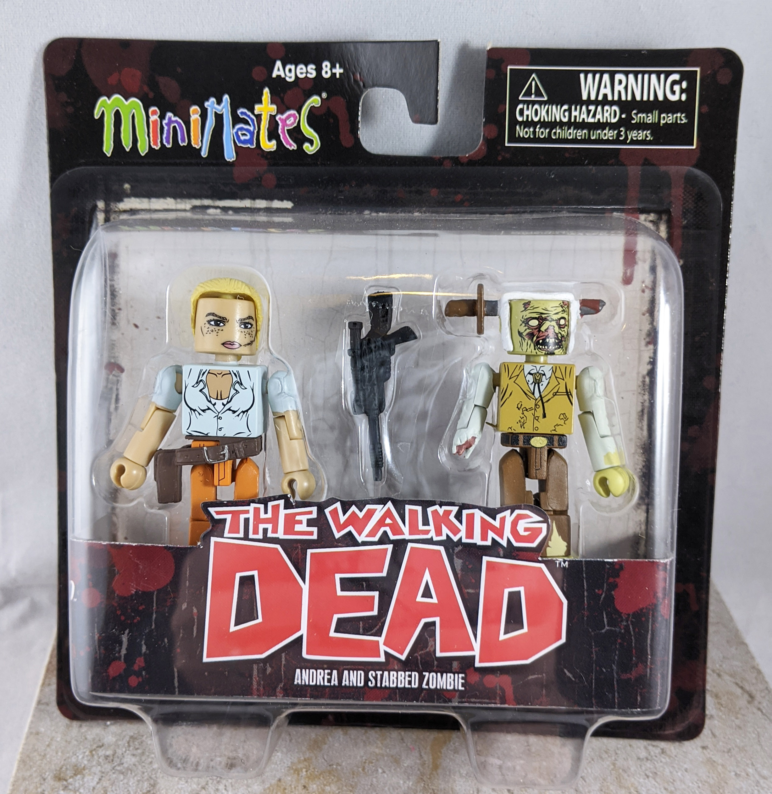 Andrea and Stabbed Zombie Minimates (Walking Dead Wave 2)