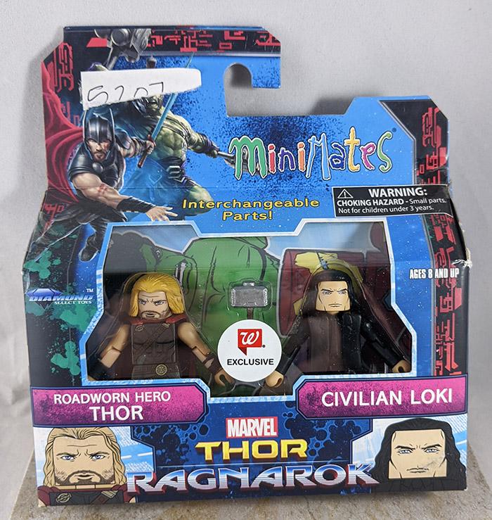 Roadworn Hero Thor and Civilian Loki Minimates (Marvel Walgreens Thor: Ragnarok Wave)