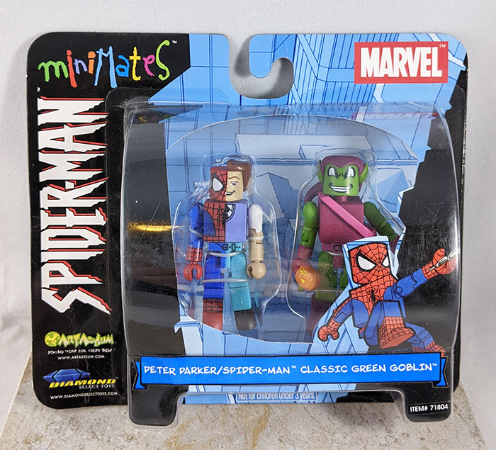 Peter Parker/Spider-Man and Classic Green Goblin Minimates (Marvel Wave 2)