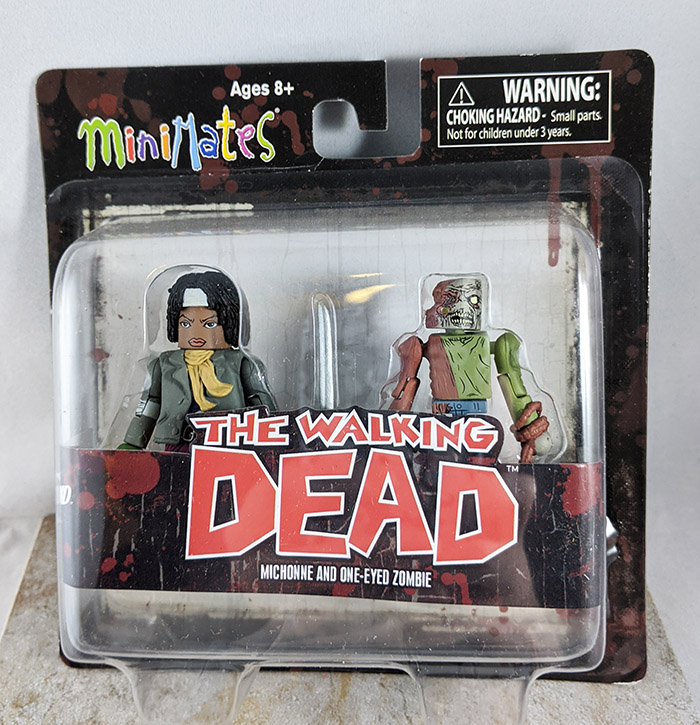 Michone and One-Eyed Zombie Minimates (Walking Dead Wave 2)