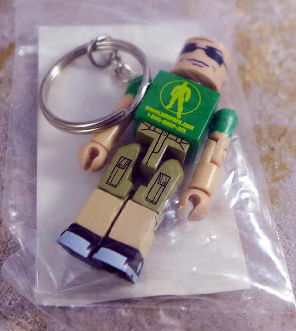 Action Figure Xpress Green Keychain Loose Minimate (SDCC 2009 Single Promotional Pack)