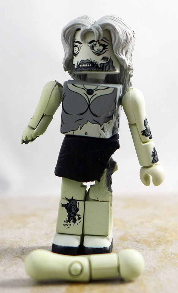 Female Zombie (Black and White) Loose Minimate (Walking Dead Halloween ComicFest Exclusive)